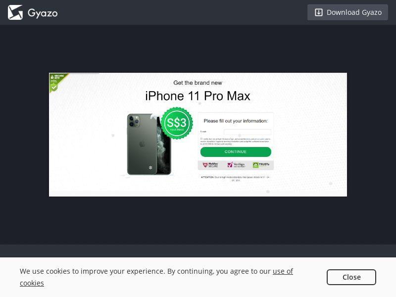 iPhone 11 Pro Max SG | CC Sub CPA