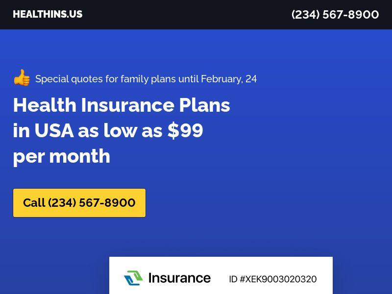 Health Insurance U65 | 90sec | Onshore Live Transfers | US