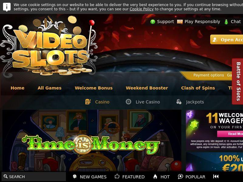 Videoslots.com Casino CPA - UK, SE, NO, DE & FI