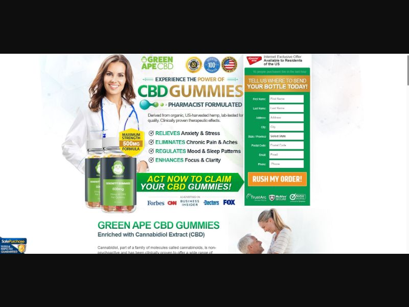 Green Ape Serenity CBD Gummies - CBD - SS - [US]
