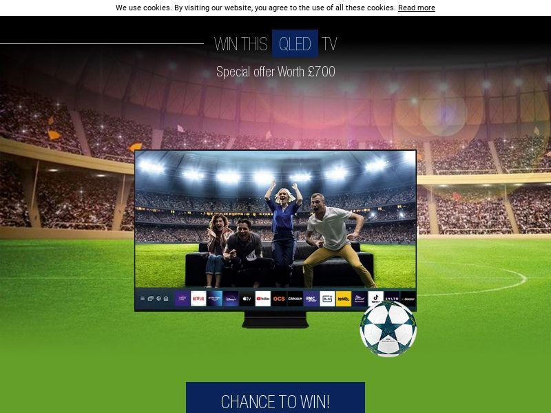 Win a QLED TV UEFA - Euro 2020 [UK]