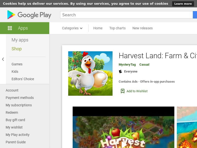 Harvest Land Android CPE (lvl 15) - WW