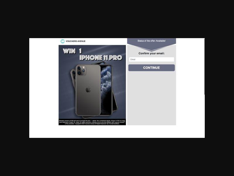 VouchersAvenue iPhone 11 Pro (US) Sweepstakes