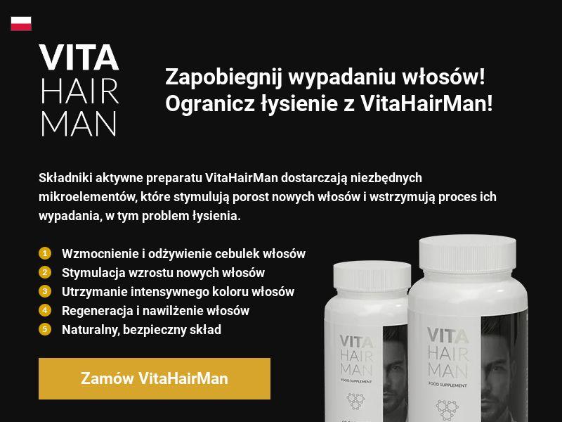 Vita Hair Man - PL (PL), [CPS], Health and Beauty, Supplements, Sell, coronavirus, corona, virus, keto, diet, weight, fitness, face mask