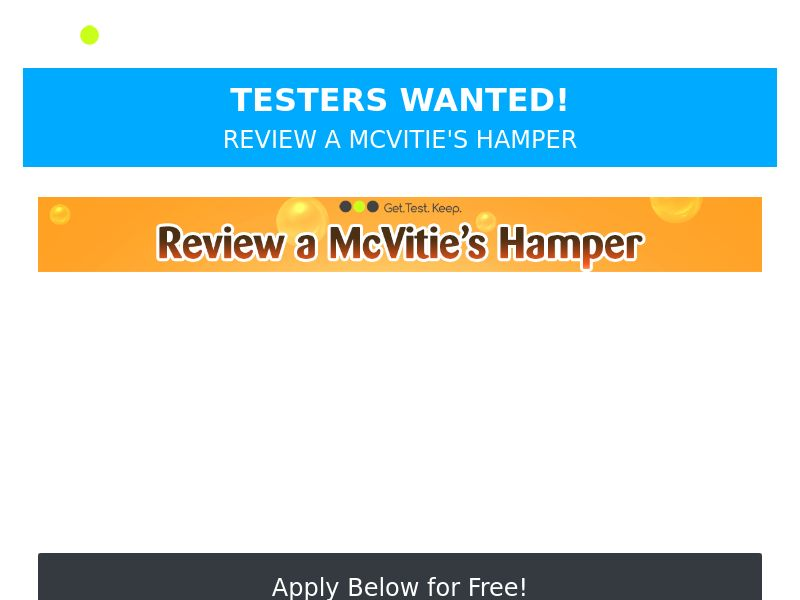OfferX - Free McVities Hamper [UK]