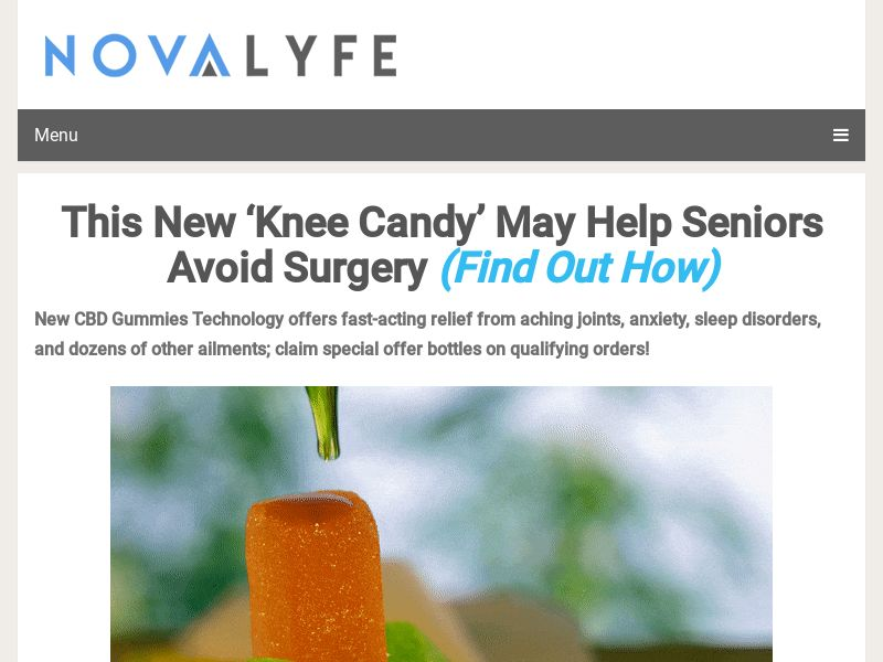 This New 'Knee Candy' May Help Seniors Avoid Surgery (Find Out How) - CC Submit | US