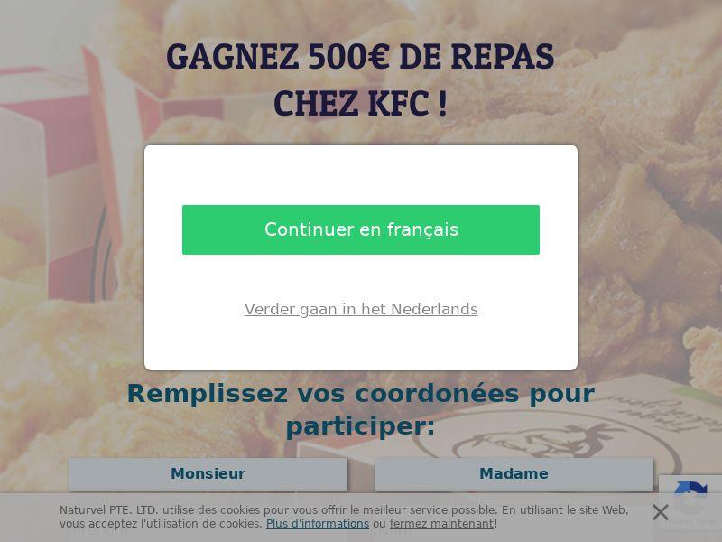 11309) [WEB+WAP] KFC 1 year 500€ - BE(FR) - CPL