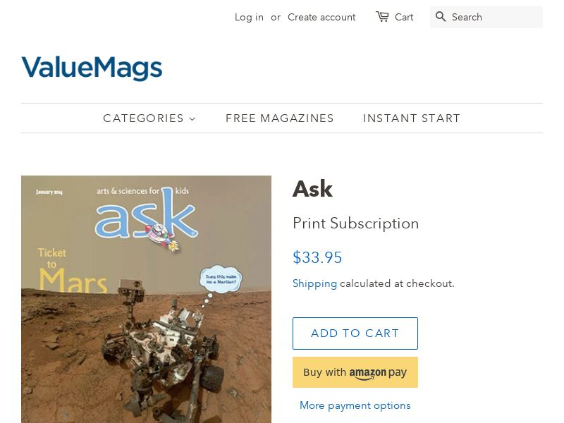 ASK Magazine for Kids (ages 7-10) - 24% OFF | US
