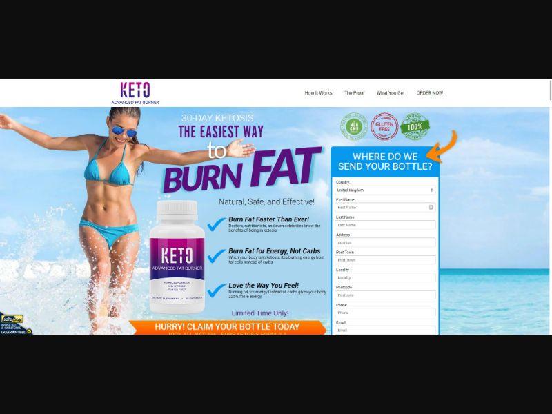 Keto Advanced Fat Burner - Diet & Weight Loss - SS - [15 GEOs]