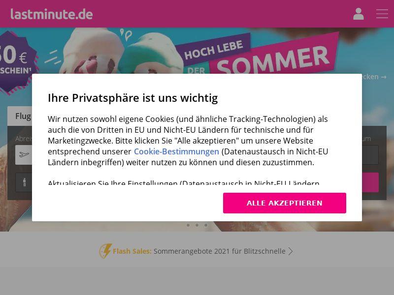 lastminute.com - DE (DE), [CPA | CPS]