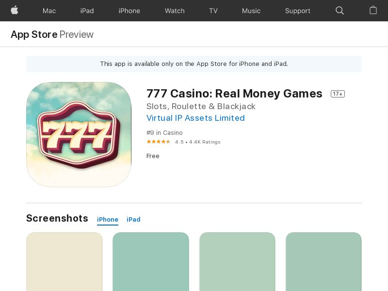 777Casino - UK - Android - CPA - DIRECT