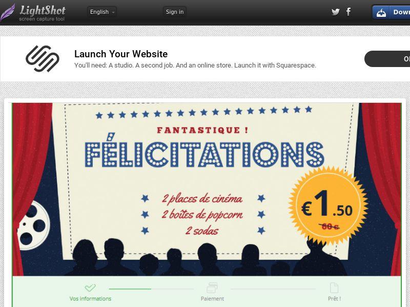 winlotsofthings Cinema Pack (Sweepstake) (CC Trial) - France