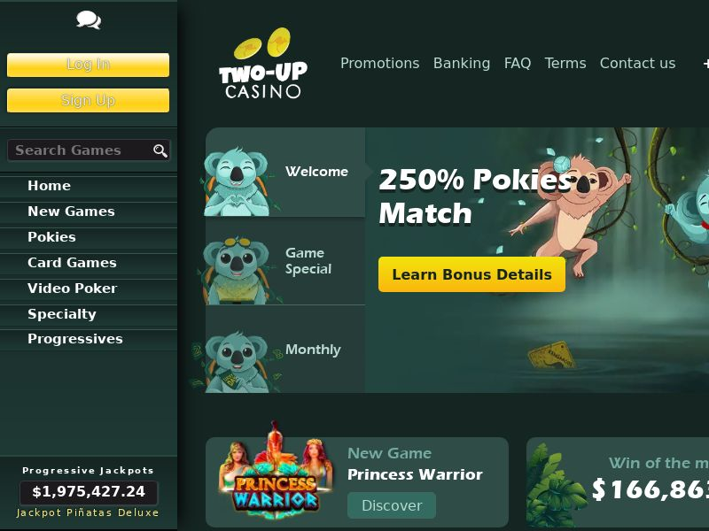 Two up casino CPA AU+NZ