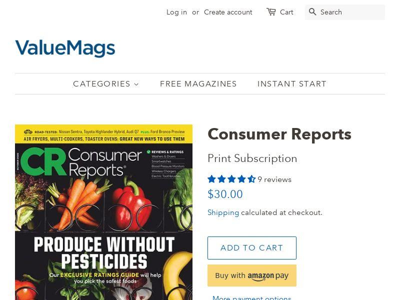 Consumer Reports Magazine | US