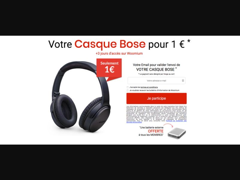 Bose - CC Submit - BE - FR - Sweepstakes - Responsive