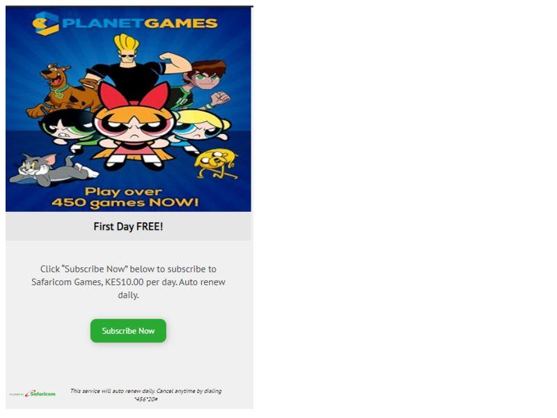 Planet Games Club Safaricom
