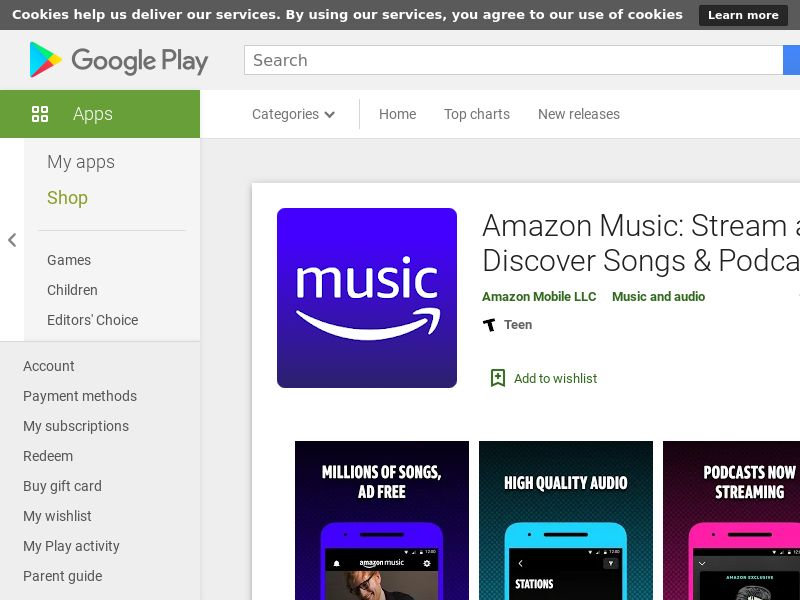 Amazon Music - Germany - Android APP