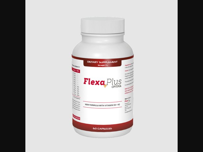 FLEXA PLUS OPTIMA – PT – CPA – joint pain – capsules - COD / SS - new creative available