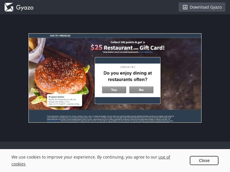 Restaurant.com GC US | CPL (E-Mail Submit)