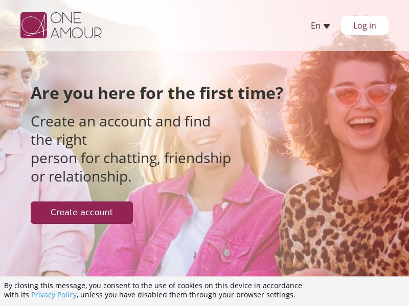 OneAmour PPL 25+ (UY,CL,CR,PR) (web+mob) (private)