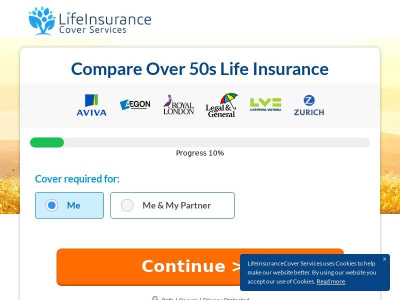 UK Over 50 Life Insurance Cover (M-F) - Social & Native