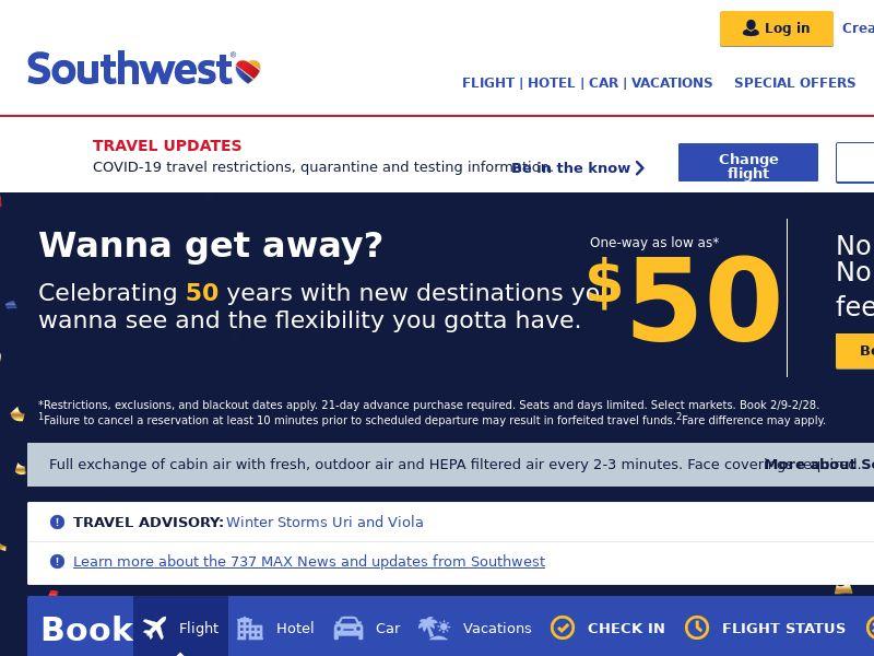 Southwest Airlines Rapid Rewards US CPS