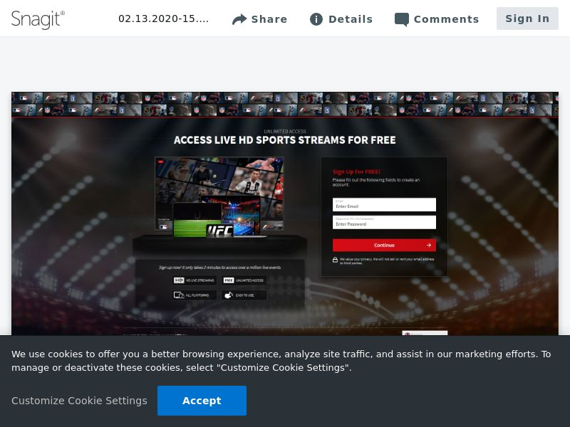 iStreamNow Sports Signup   CA