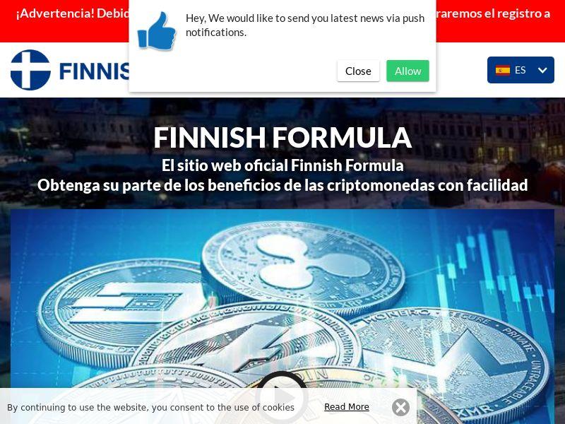 Finnesh formula Spanish 3747