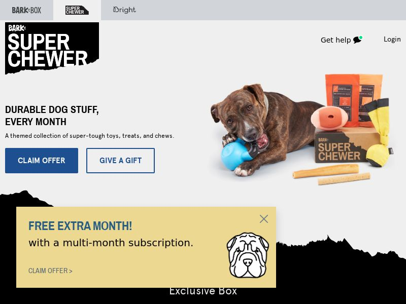 SuperChewer - Toys Subscription box for dogs - CPA - [US/CA]