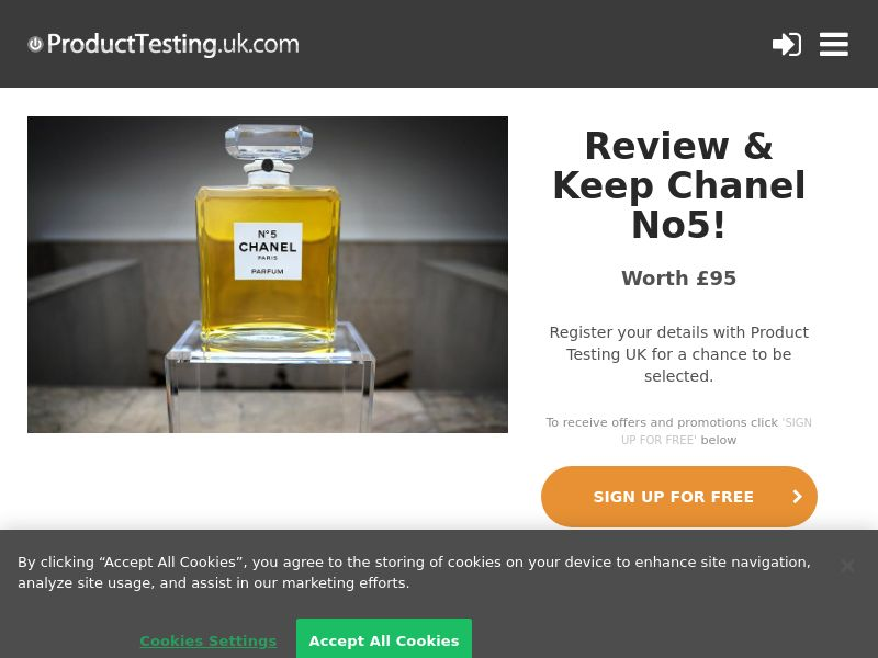 Product Testing - Chanel No5 [UK]