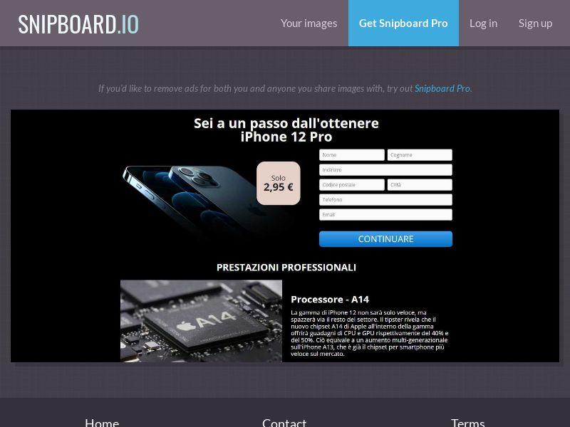 39676 - IT - G33K Premium - iPhone 12 - CC submit
