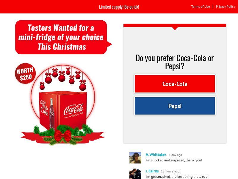 Test a cola fridge christmas - YOUSWEEPS US