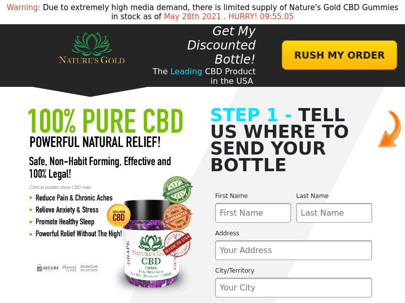 Natures Gold CBD (CPA) (SS) (US) (SMS Allowed)