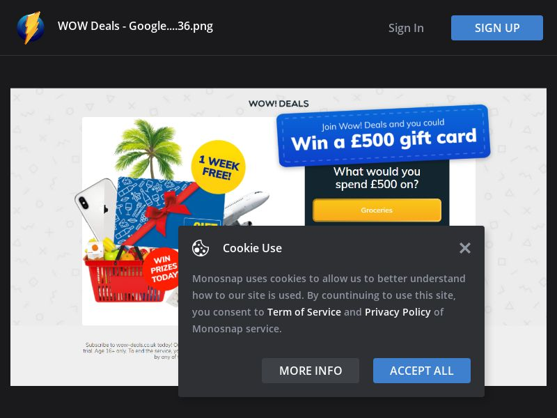 United Kingdom (UK) - £500 Gift Card (Responsive)