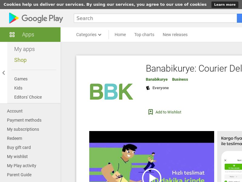 Banabikurye: Courier Delivery App - Android (TR) (CPA)