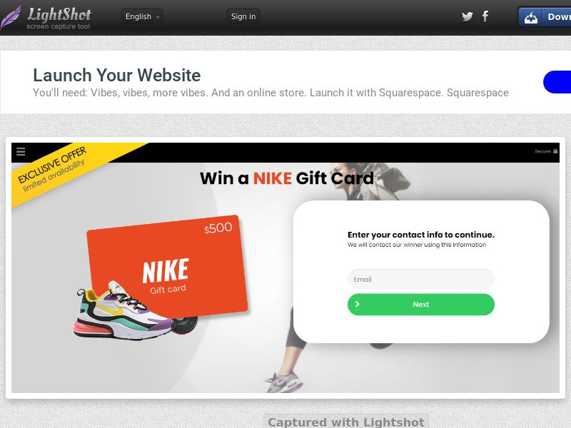 Win a NIKE Giftcard - US