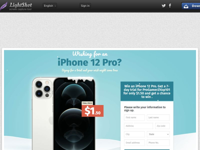 Winlots iPhone 12 Pro Christmas (CC Trial) - United States