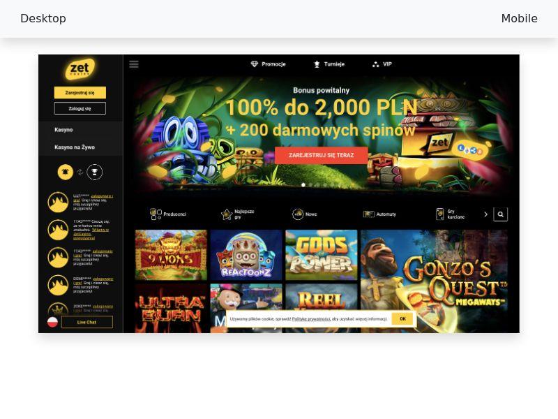 Zet Casino - CPA - PL