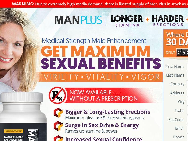 ManPlus Viexa [MALE ENHANCEMENT] - CPA - Straight Sale - INTL