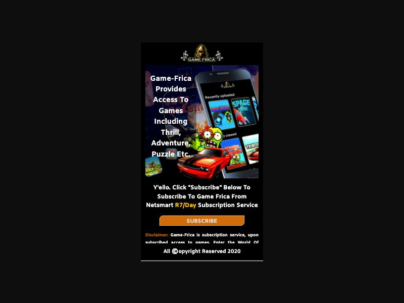 Game-Frica - 2 Clicks - ZA-MTN - Online Games - Mobile