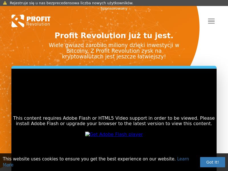Profit Revolution - PL (PL), [CPA], Business, Investment platforms, Forex, Cryptocurrencies, Financial instruments, Deposit Payment, bitcoin, cryptocurrency, finance, money