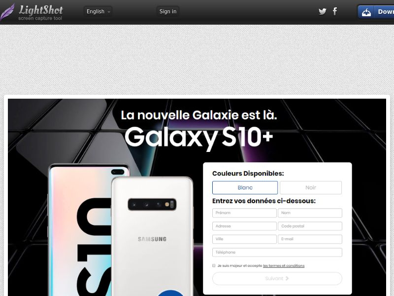 PremiumDeals Samsung Galaxy S10 v5 (Sweepstake) (CC Trial) - Switzerland [CH]