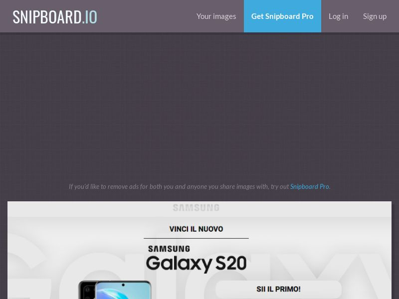 MagnificentPrize - Samsung Galaxy S20 Light IT - CC Submit