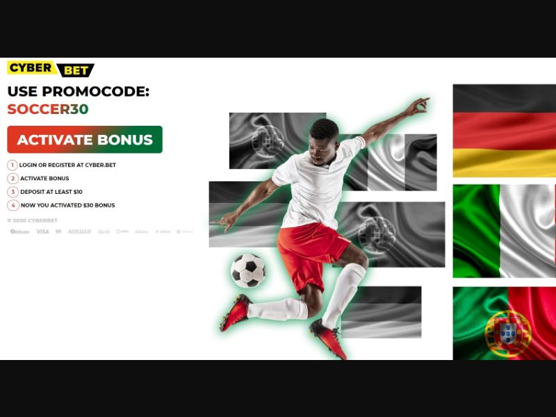 Cyber.Bet football (Facebook) [BR] - Registration + Deposit