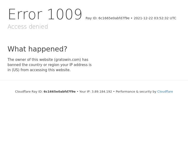 GratoWin   Minimum FTD (no baseline)   FR