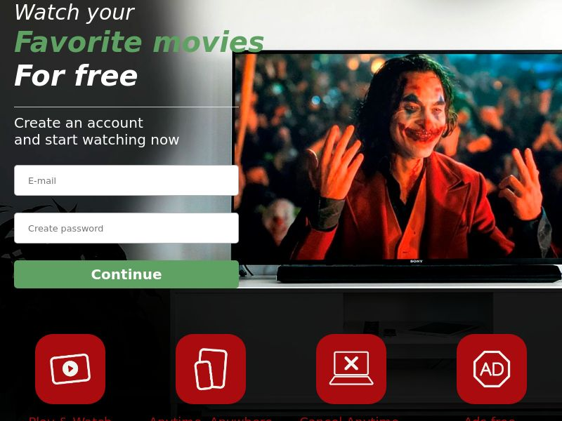 New Joker Riot - Streaming - Movie VOD - CA - CC Submit