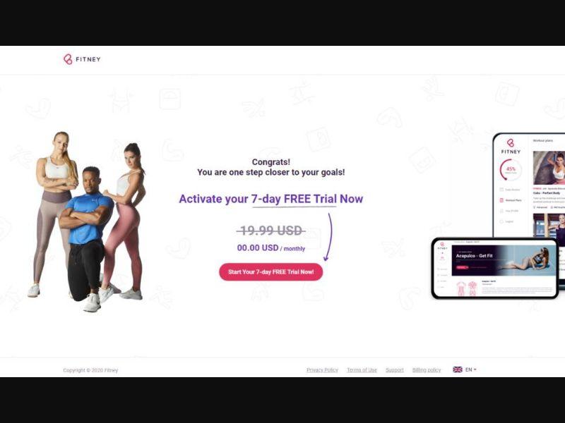 Fitney free trial [Milti-GEO] - CC Submit
