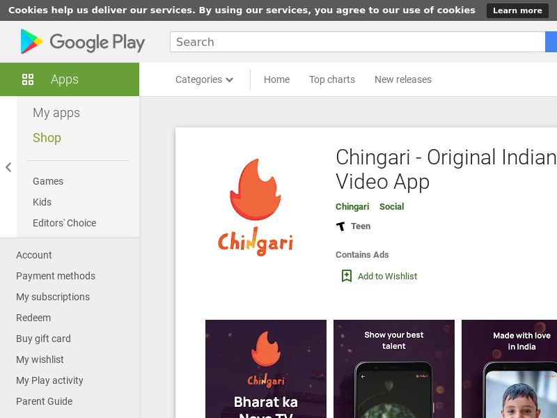 Chingari - Android - IN <<*PENDING*PRIVATE OFFER*>>