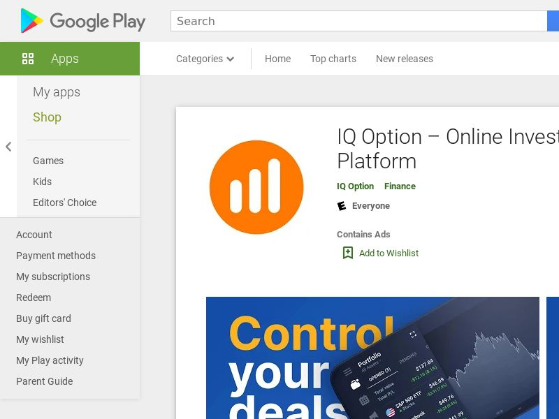IQ Option - CPA - Brazil [Android APP]