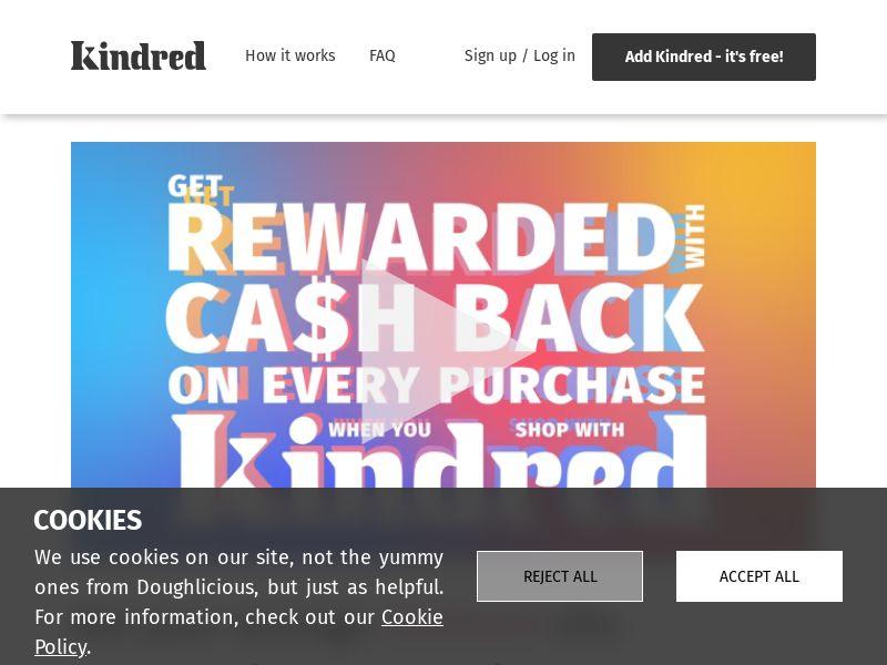 Kindred Extension - £5 welcome bonus CPL [UK/US]